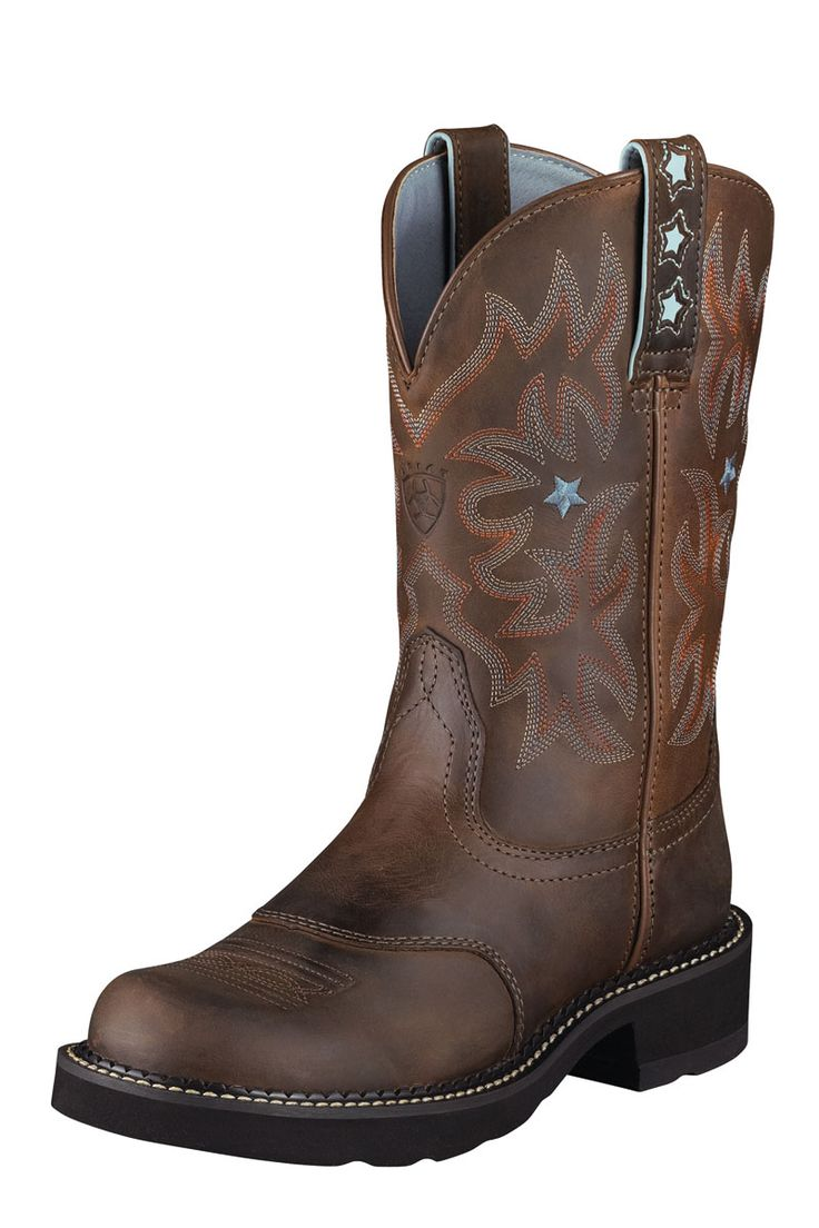 Women's Mid Calf Boots For Sale Ariat Fatbaby Women Heritage Tan Rowdy/Tan 10014080 Online Oulter