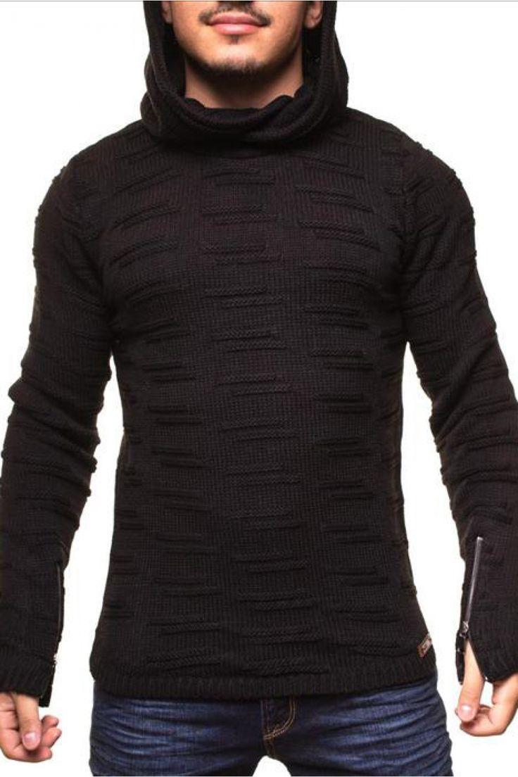 Cool Sweter Męski Model 16736 Black - YourNewStyle Check more at http://www.brandsforless.gr/shop/men/sweter-meski-model-16736-black-yournewstyle/