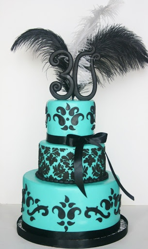 And Everything Sweet: cakes--30th birthday
