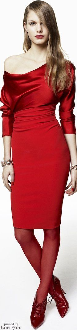 """Blumarine 2015 ~ """"Fashionissima Originale"""" Don't believer I would have picked those shoes  and red stockings"""