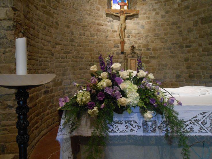 matrimonio: ortensia, rose e lysianthus bianco e viola