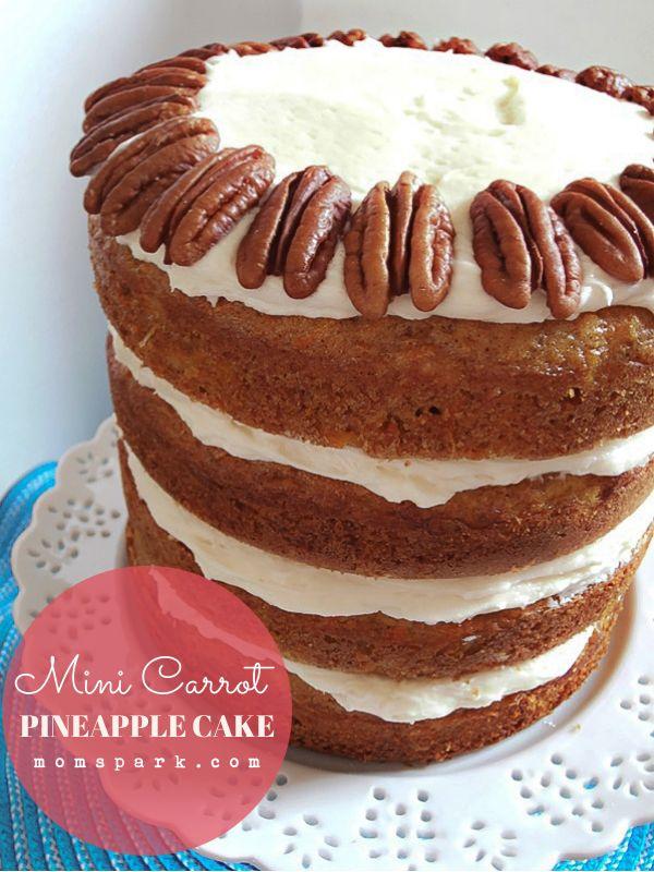 Mini Layered Carrot Pineapple Cake Recipe