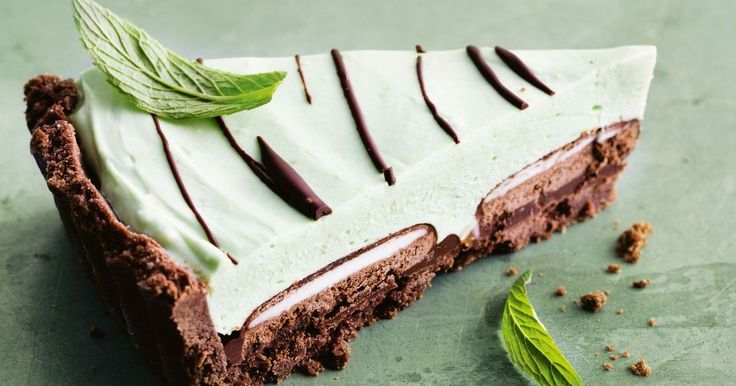 There's a hidden Mint Slice in every slice of this luxe chocolate pie.