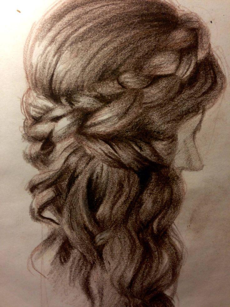 #pencil #pencils #braid #hair #capelli #matita #disegno #treccia
