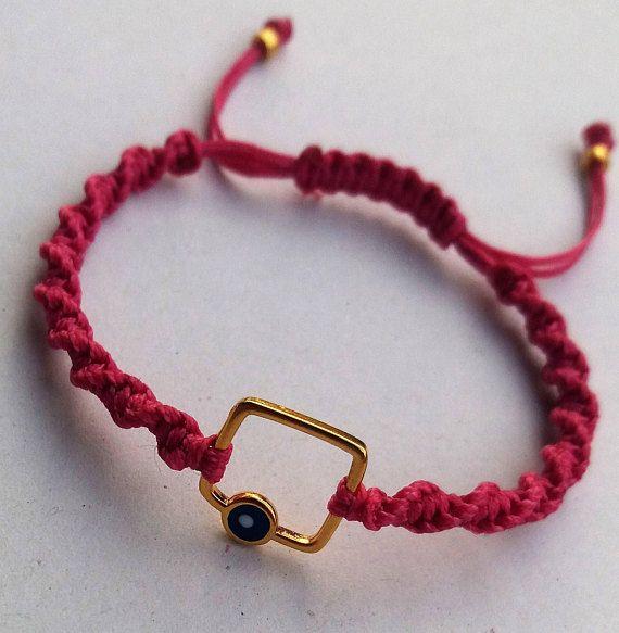 Bracelet Made in Greece Macrame bracelet Charm bracelet