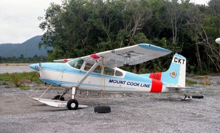 Went in one of those onto Tasman Glacier, Cessna 185