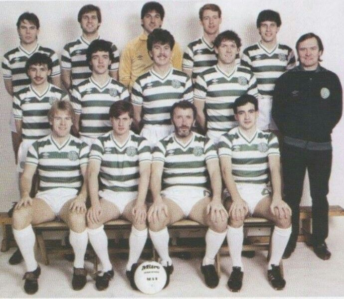 Celtic FC with manager Davie Hay