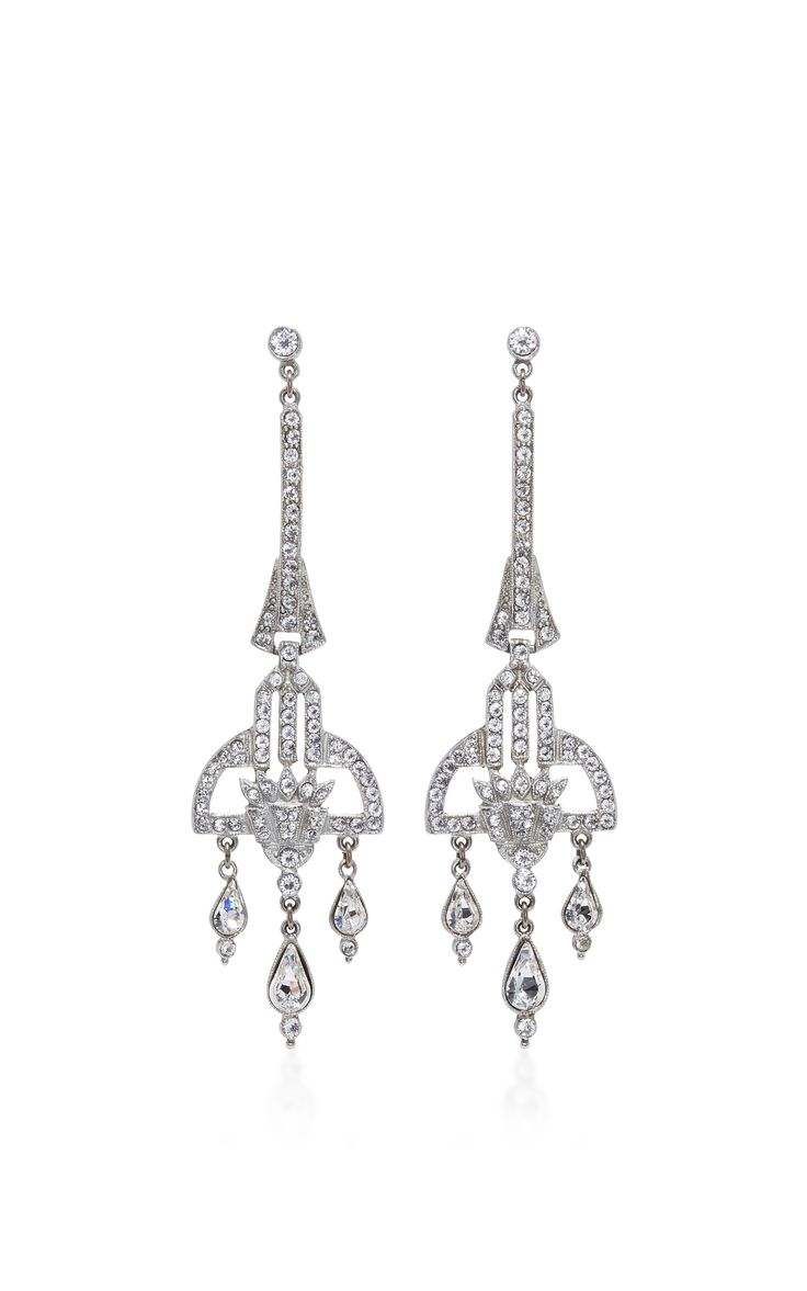 121 best jewelry chandelier earrings fav images on pinterest antique silver crystal deco earring by ben amun now available on moda operandi arubaitofo Images