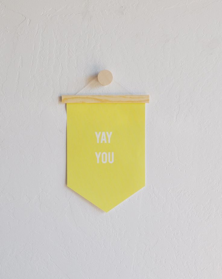 Yay You - Hanging Canvas Banner - Quote Banner