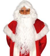 Peluca y Barba Papá Noel extra luxe