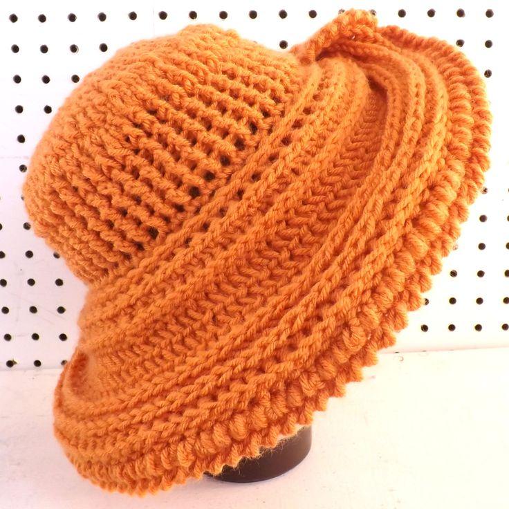 Desert Glaze Orange Crochet Hat Womens Hat Steampunk Hat Crochet Wide Brim Hat Women Orange Hat Winter Hat FRONTIER Wide Brim Hat by strawberrycouture on Etsy  Desert Glaze Orange Crochet Hat Womens Hat Steampunk Hat Crochet Wide Brim Hat Women Orange Hat Winter Hat FRONTIER Wide Brim Hat 60.00 USD by #strawberrycouture on #Etsy  MUST SEE! http://ift.tt/1FXZCn3 (Unique Womens Crochet & Knit Hats Scarves Patterns) Strawberry Couture on Etsy is about having fun with a crochet hook and…