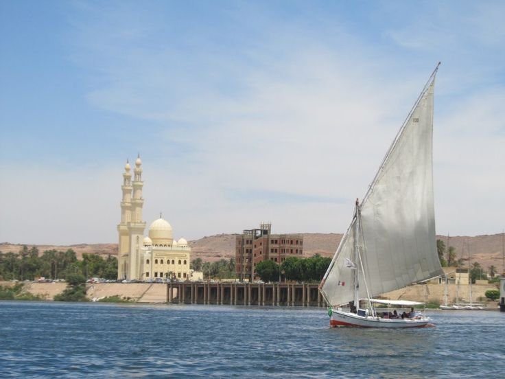 Mosque in Aswan Egypt. Aswan is a wonderful old age city with a lot of charm