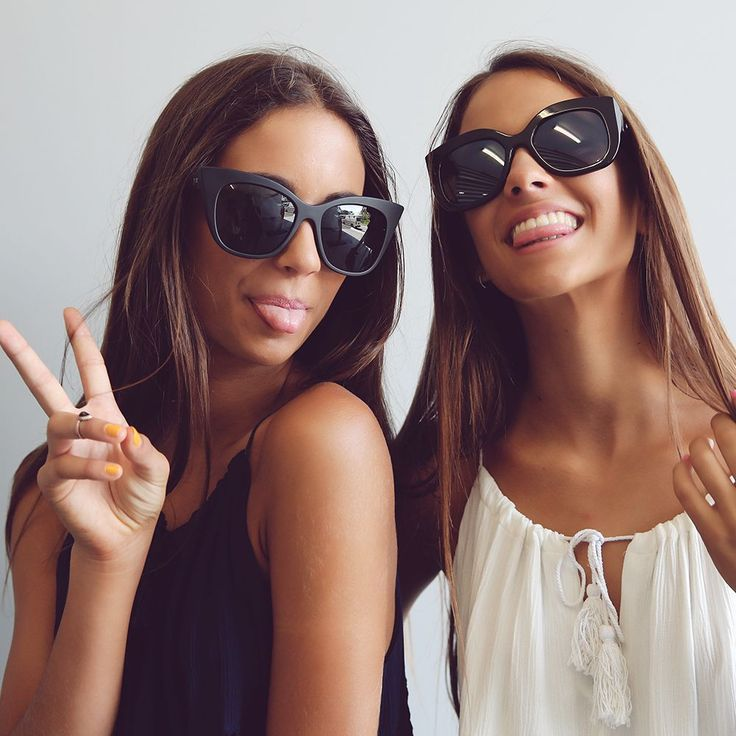 Renee + Elisha Herbert loving our 'Quay Sunnies' available at Peppermayo.com