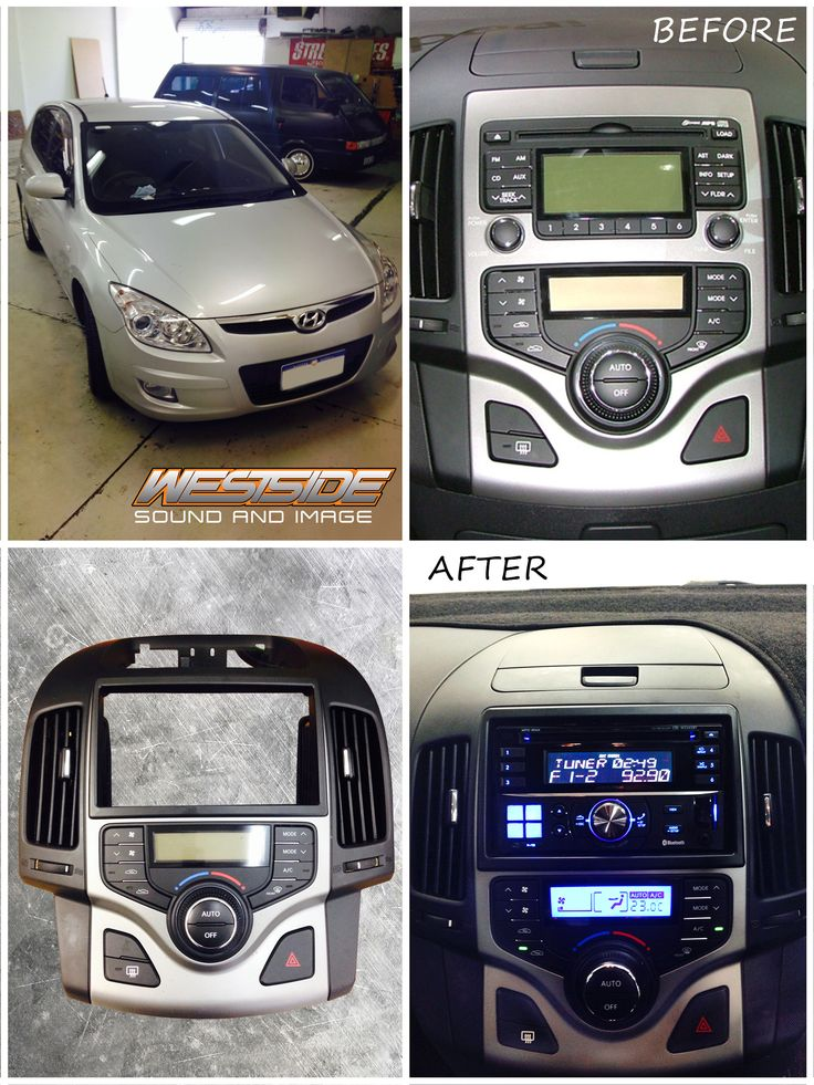 This is another great example of the custom work we do. The Hyundai i30 dash and stereo are one piece and there is no way to just remove the stereo. We cut the dash, removed the factory stereo and used a surrounding fascia kit to create a smooth, integrated look. We then installed an #Alpine CDE-W235EBT which offers USB, AUX, CD, Bluetooth handsfree and audio streaming.  Product details here: http://ow.ly/CeAGY