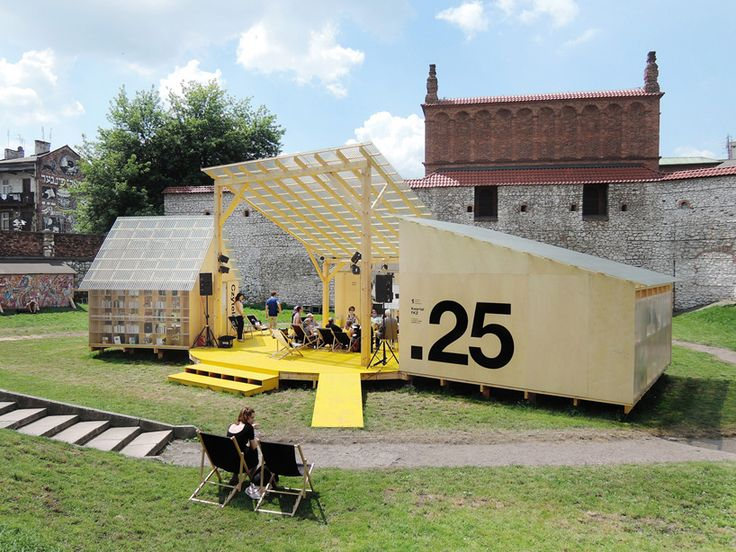 budcud revives an old square in krakow for the 25th jewish culture festival