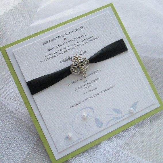 Several DIY ideas --- Handmade wedding invitation with couture styling