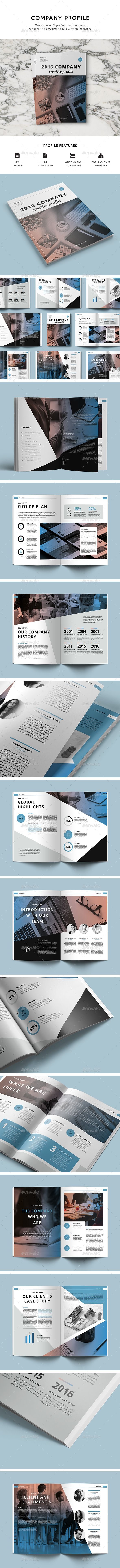 Company Profile Brochure Template InDesign INDD. Download here: https://graphicriver.net/item/company-profile/17388269?ref=ksioks