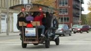 MILWAUKEE — There's good and bad news for Pedal Tavern. The city of Milwaukee granted them a license for its...