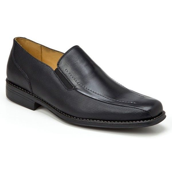 Men's Sandro Moscoloni Enzo Venetian Loafer (€130) ❤ liked on Polyvore featuring men's fashion, men's shoes, men's loafers, black, mens black loafers, mens shoes, mens leather loafers, mens leather loafer shoes and mens loafer shoes