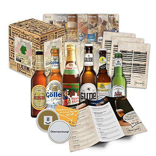 Pack de 6 spécialités de bière d'Allemagne (les meilleures bières allemandes) comme un essai pour le cadeau dans une boîte cadeau 6×0,33 l
