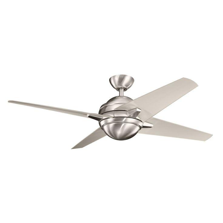 Rivetta 52 inch rivetta fan shown in brushed stainless steel by kichler lighting 300133bss