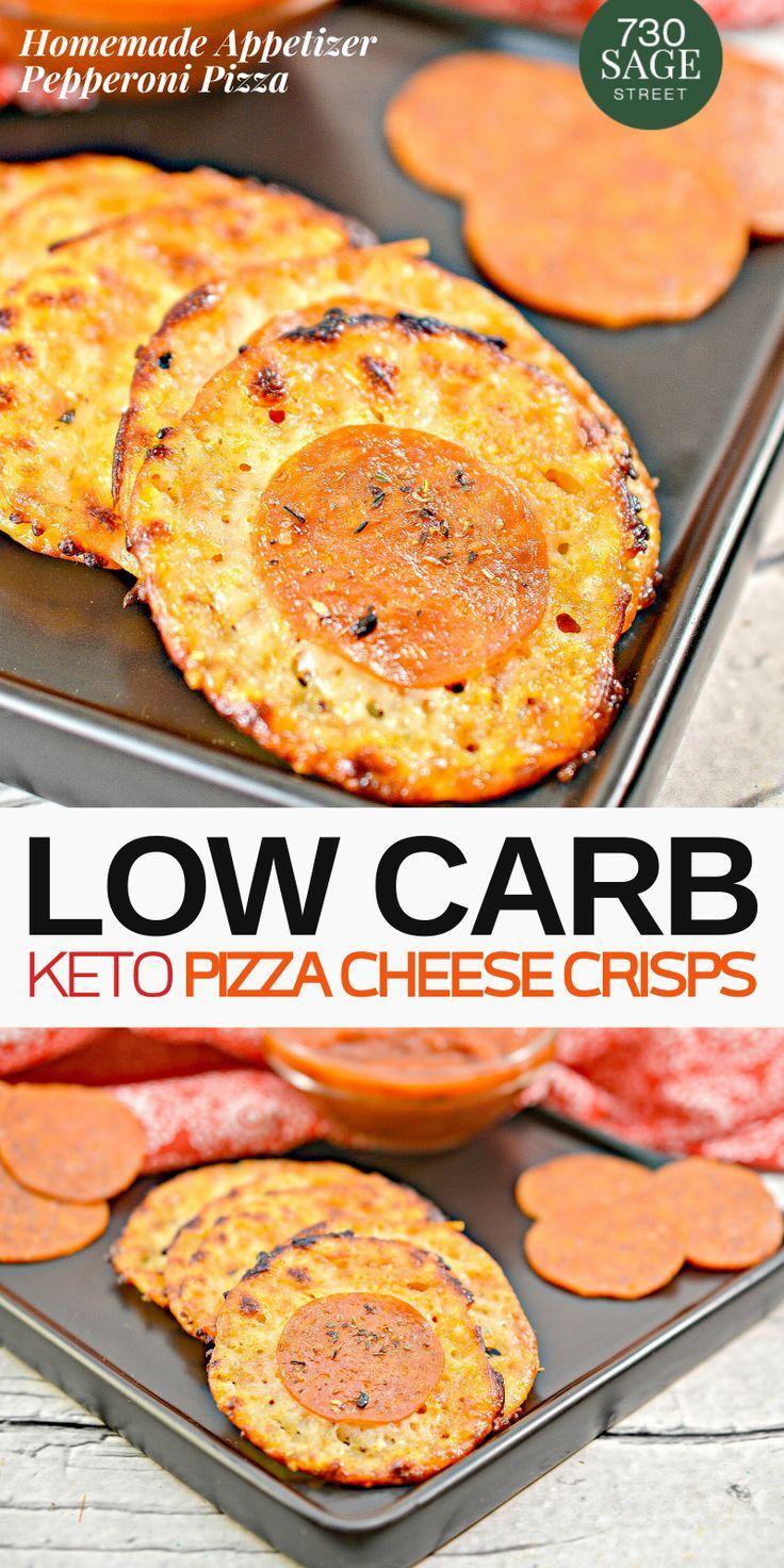 Pepperoni Pizza Keto Cheese Crisps Low Carb Recipes Dessert Recipes Keto Friendly Desserts