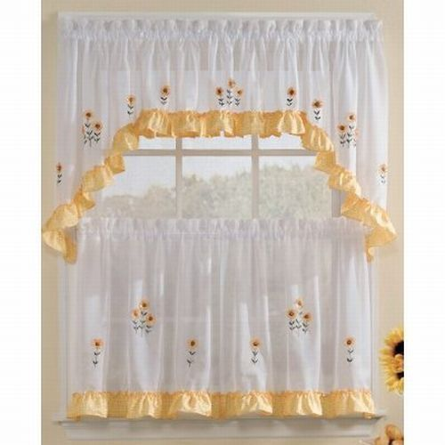 Kitchen Curtains Sunflower Design: 44 Best Country Curtains And Country Paint Colors Images