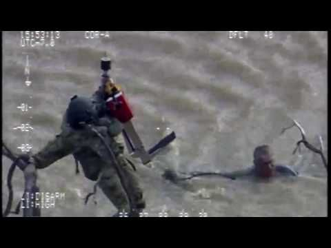 National Guard Team Rescues Elderly Man Clinging onto Branch in NorCal F...