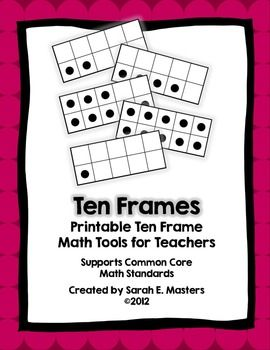 "Ten Frame Math ToolsIncluded:Ten Frame/Number Classroom PostersLarge Ten Frames (Teacher-Demo)Personal Ten Frame Sets for StudentsTen Frame/Number Deck of CardsTen Frame Deck of Cards**Two teacher resource suggestions.What are ten frames?Ten frames are visual tools for helping students ""see"" numbers, understand place value, and learn important strategies for mental addition and subtraction."