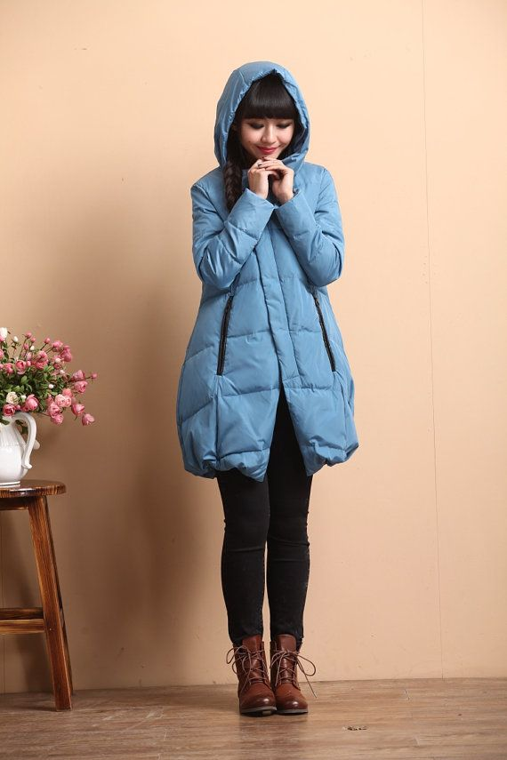 Hooded Down Coat by deboy2000  This is such a sweet blue coat!