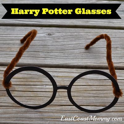 Harry Potter Glasses (made from card stock) with free printable templates