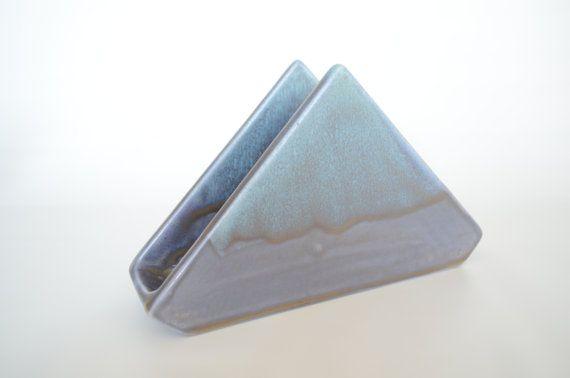 Napkin Holder Letter Holder Ceramic Napkin by RusticMudPottery