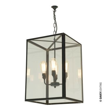 7639/4ELE Large Square Pendant by Davey Lighting