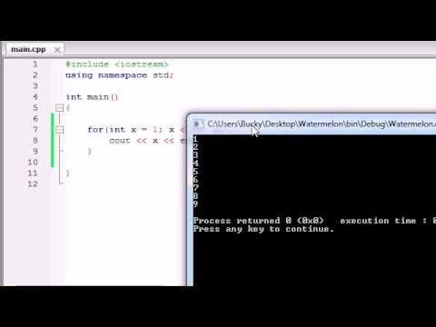 Buckys C++ Programming Tutorials   22   for Loops... %desc