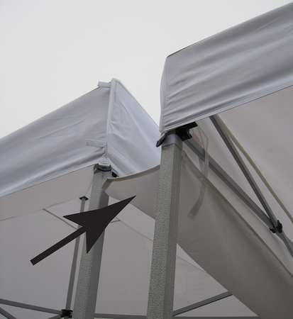 Canopy Rain Gutter Connections By Value Brand Temporary