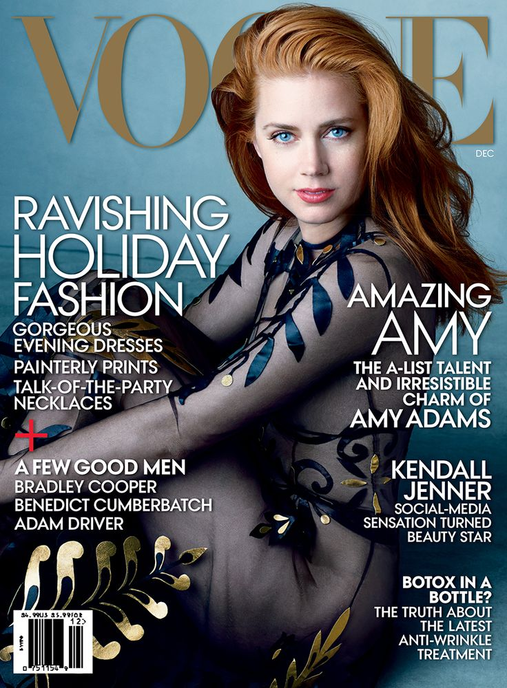 How gorgeous does Amy Adams look on her first Vogue cover shot by Annie Leibovitz?