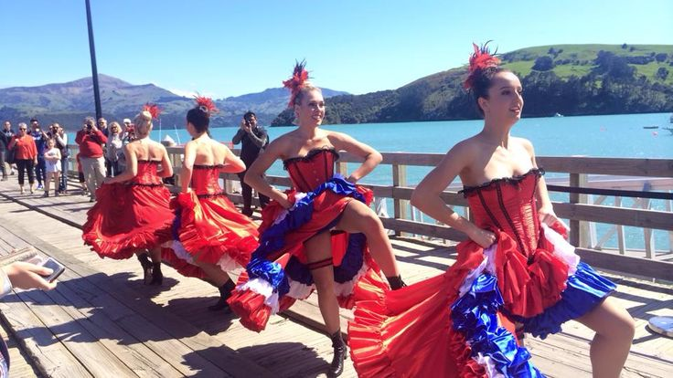 Akaroa Wharf came to life for the French Fest...
