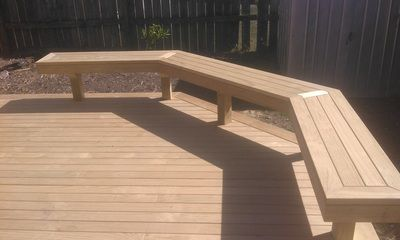 Integrated Seating - Premium Grade Decking 32mm x 90mm, acting as a practical boundary instead of a handrail.
