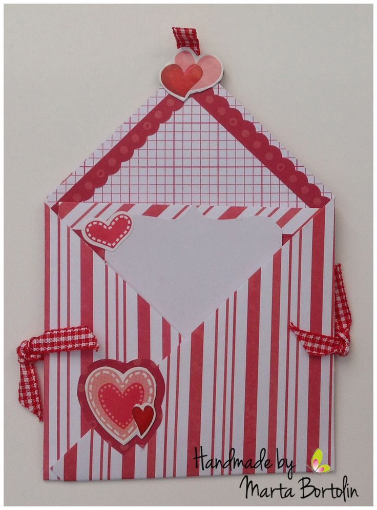 All occasion card, patterned paper, checkered ribbon and heart stickers