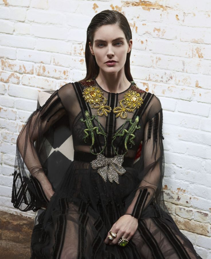 Hilary Rhoda in Gucci