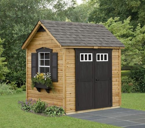 Outdoor Living Today Gardener 8 ft. W x 8 ft. D Wood Storage Shed G88