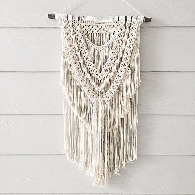 In December, a guy reached out about wanting to surprise his sweet girlfriend with one of my macrame wall hangings for Christmas. Seriously how adorable is that? It was my favorite holiday custom order to make, and I'm so excited to finally share a photo! #etsy #etsyshop #etsyseller #etsyfinds #shopsmall #smallbusiness #denton #dentoning #wovenwhale #modernmacrame #walltapestry #wallhanging #macrame #macramewallhanging #macrameart #makersgonnamake #makersmovement #dentonmakes…