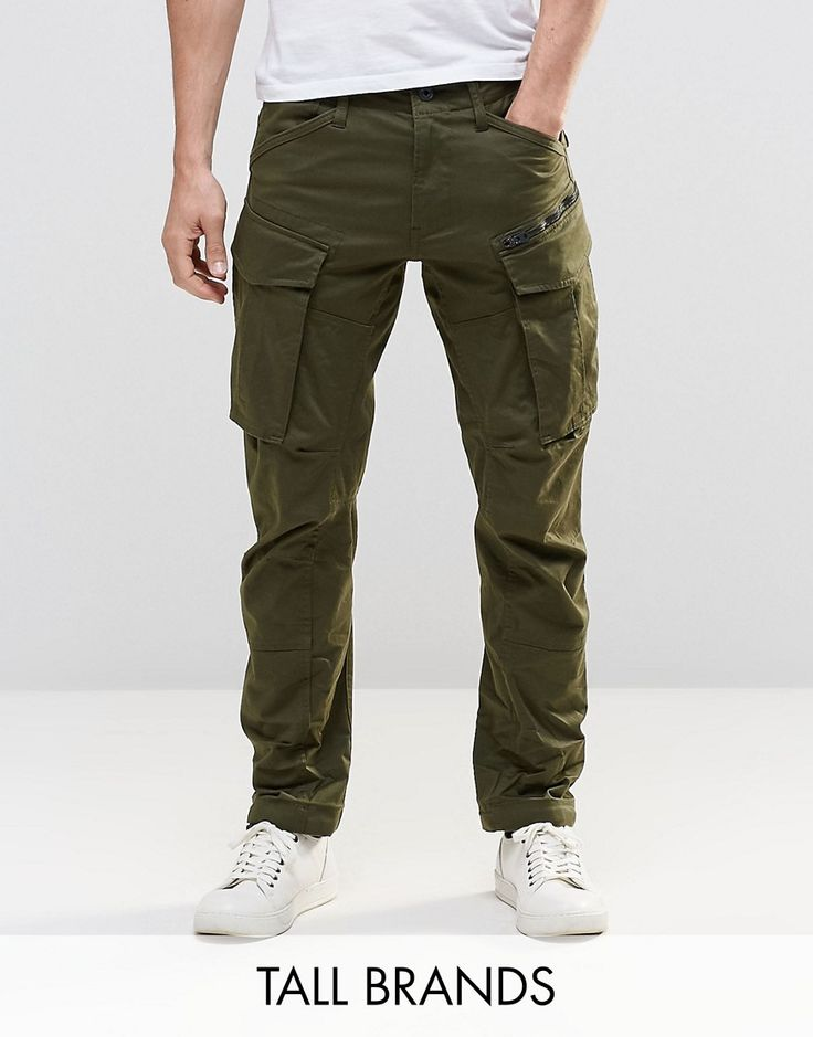 G-Star TALL Rovic Zip Cargo Pants 3D Tapered - Green: Cargo trousers by G  Star, Stretch cotton twill, Concealed fly, ...