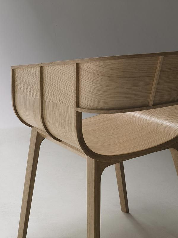 Solid wood chair with armrests MARITIME by CASAMANIA