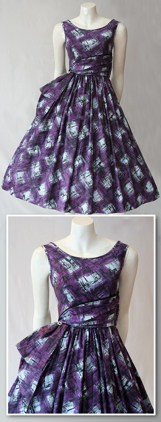 Gorgeous vintage 1950s dress in polished cotton by Sir Rob.
