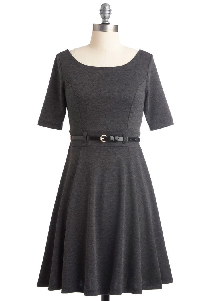 So, so charming!: Dress Work, Rehear Dresses, Bridesmaid Dresses, Retro Vintage Dresses, Yellow Belts, Modcloth Com, Interview Outfits, Work Dresses, Grey Dresses