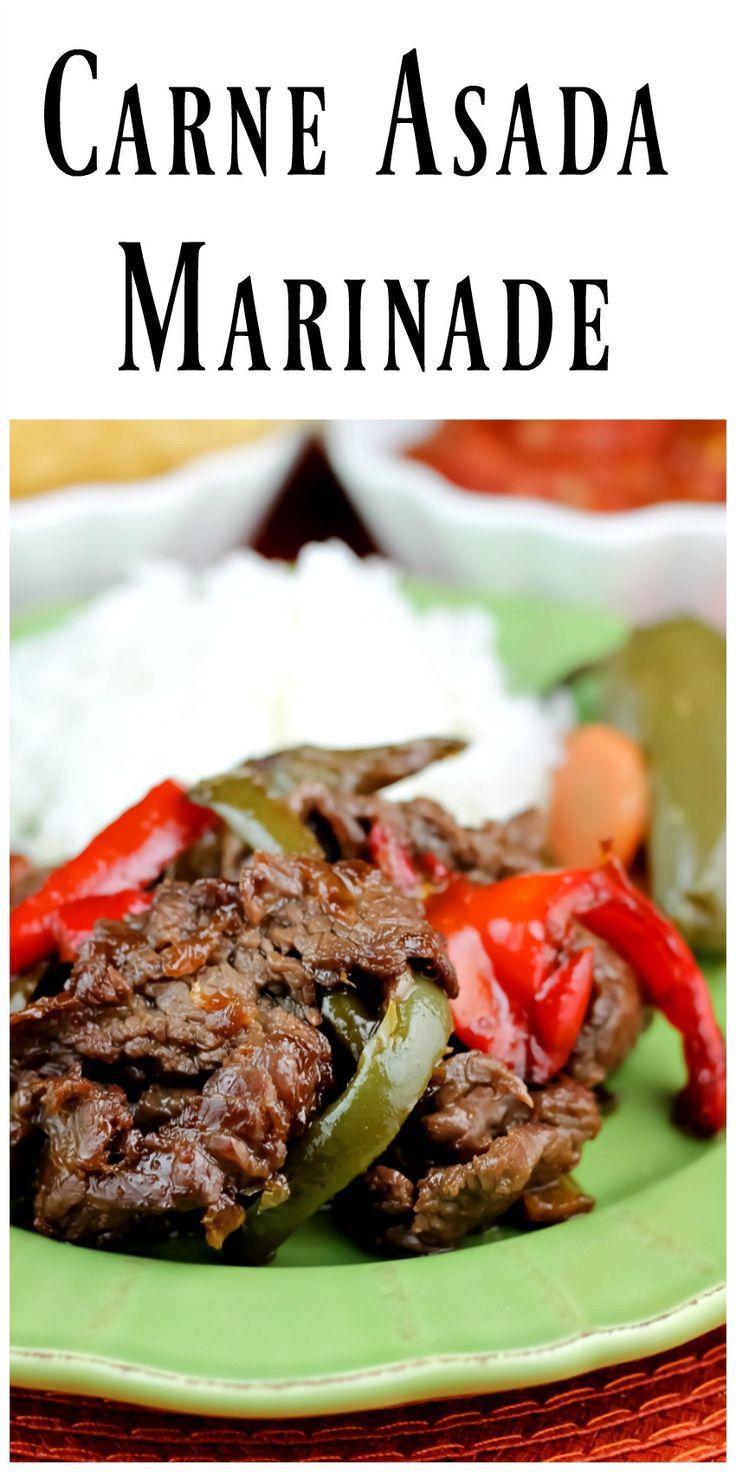 Carne Asada Marinade is delicious and can be used for beef,chicken or pork. Enjoy this spicy, bright flavored marinade in your favorite Mexican dishes. via @https://www.pinterest.com/BunnysWarmOven/bunnys-warm-oven/