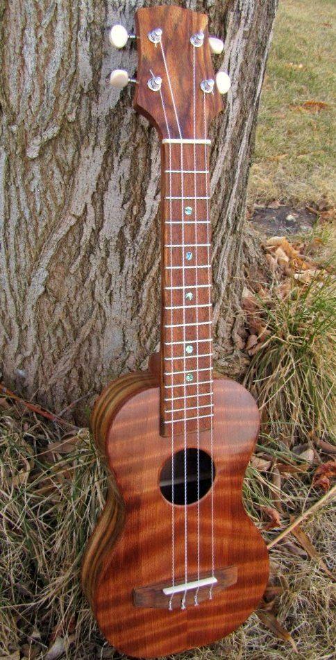 Garrett Gardner - 3G Woodworks Redwood and Chechen Concert Ukulele (I dont know Chechen but it look very pretty here) --- https://www.pinterest.com/lardyfatboy/