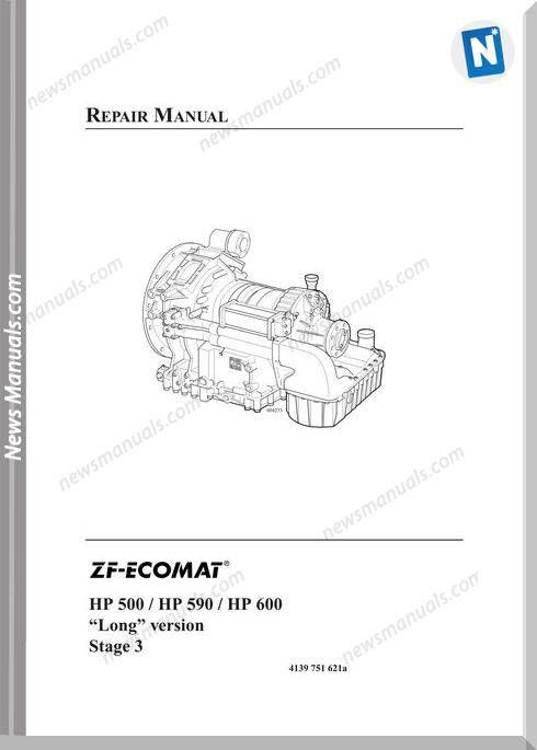 Zf 5hp 6hp Ecomat 500 590 600 Long Vers Repair Manual Repair Manuals Repair Manual