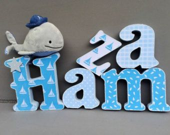 Best Baby Boy Wooden Letters Images On   Toy Boxes